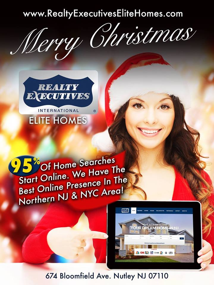 Merry Christmas From Realty Executives Elite Homes in Nutley NJ