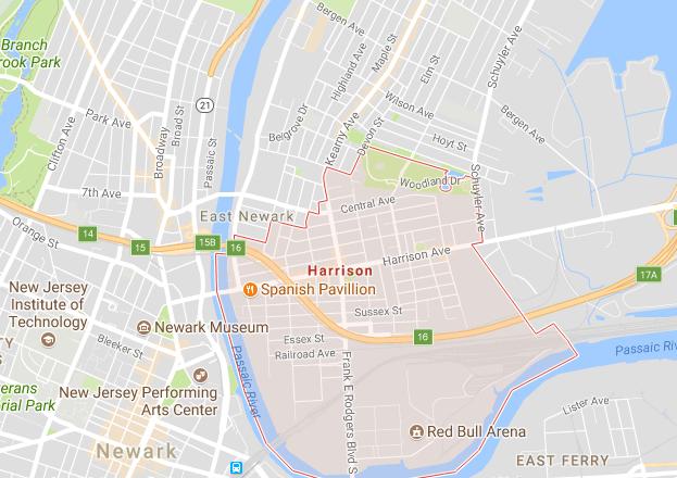 Map of Harrison NJ