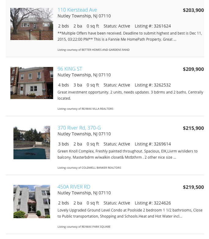 Nutley Real Estate & Nutley Homes For Sale