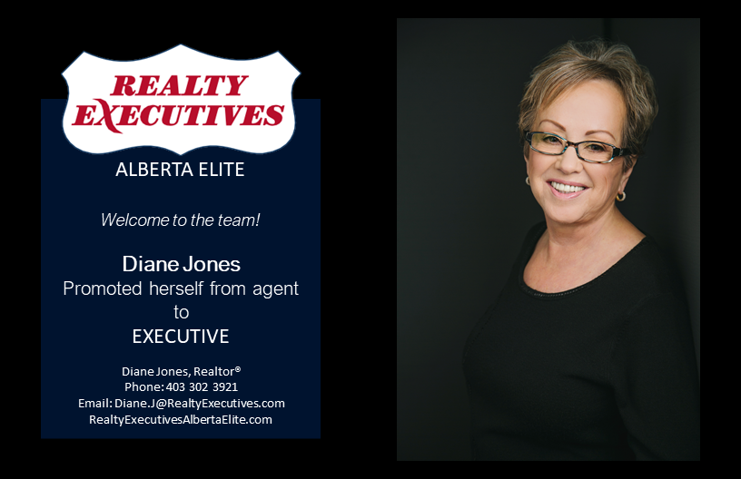 Welcome Diane Jones to Realty Executives Alberta Elite
